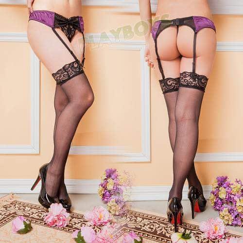 祕密花園蕾絲吊襪帶