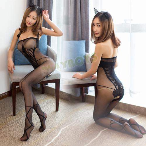 淘氣俏佳人透視絲襪貓裝