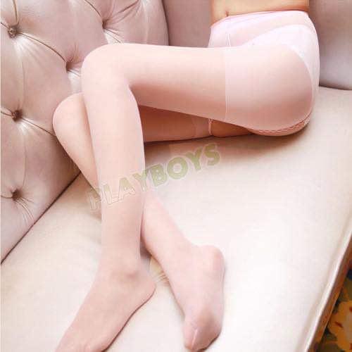 玩美誘惑絲般柔滑大開檔透膚褲襪/絲襪(白色)