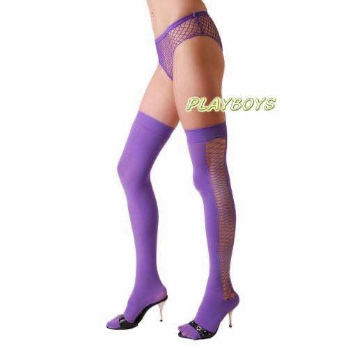 側網造型大腿絲襪(紫)