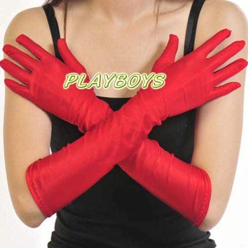 全罩光滑觸感手套(紅)