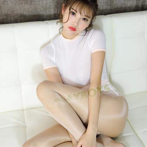 日本魅力學園性感彈力體操服(粉) 開高叉泳裝
