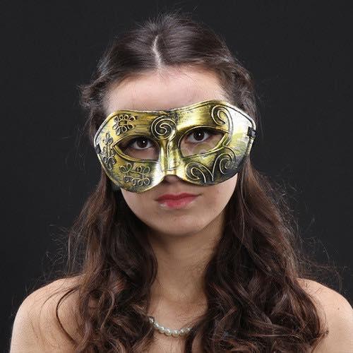 仿古鎧甲眼罩(金色)