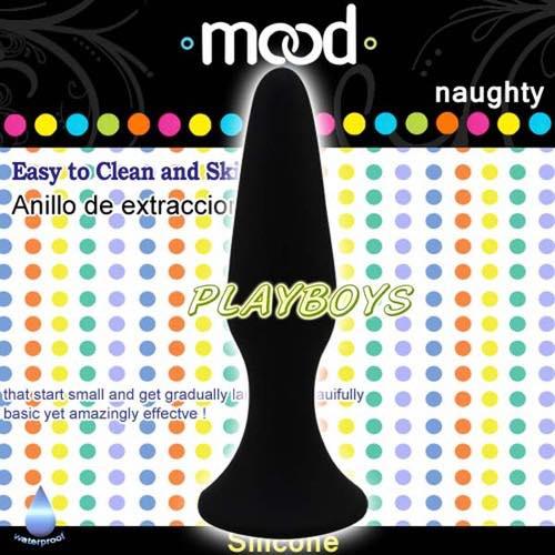 美國DJ-Mood naughty吸盤柔細後庭拉棒(短)