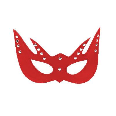 舞艷女王 皮革情趣眼罩(紅)