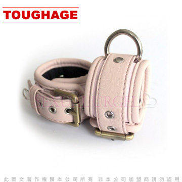 美國駭客Toughage-Cotton Lining Wrist Cuffs/ Locking Buckle棉襯手腕銬-粉紅