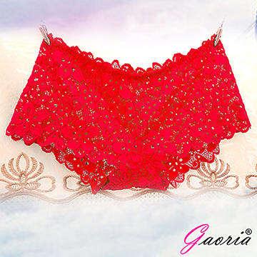 【Gaoria】想入非非 一片式 蕾絲款 冰絲無痕內褲 紅