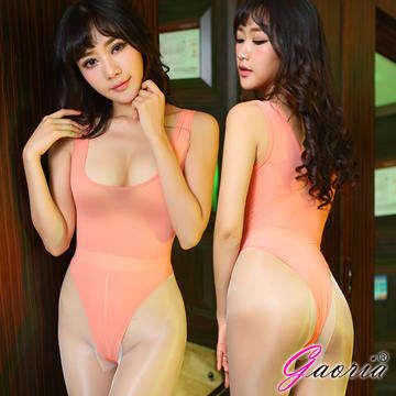 【Gaoria】萌娘神器 輕薄透明 死庫水 情趣泳衣 橙