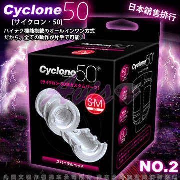 日本對子哈特(Toys Heart)-CYCLONE 50 高速迴轉旋風機 內裝杯體 (橫紋)