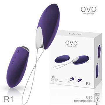德國OVO R1 樂佩 7段變頻 多功能  陰蒂刺激無線遙控跳蛋 充電式 深紫色