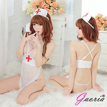 【Gaoria】傾聽心跳 護士服露乳 角色扮演 性感情趣睡衣