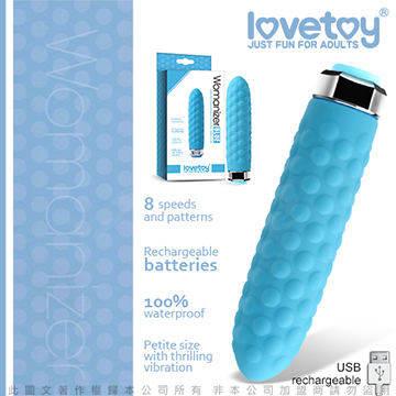 Lovetoy Womanizer 8段變頻靜音迷你時尚按摩棒 BLUE
