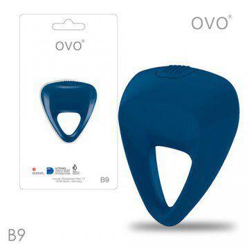 德國OVO-B9 前衛男性 矽膠靜音時尚震動環-深藍色