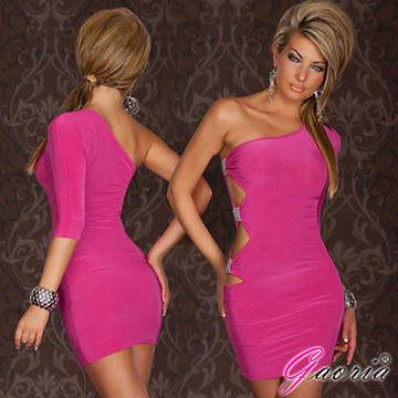 【Gaoria】選秀佳麗 5分袖腰部水晶鑽飾 夜店服裝 緊身包臀 情趣服裝