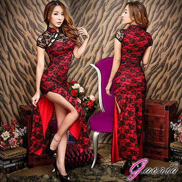 【Gaoria】金陵四十六釵 改良式長版側開岔旗袍 情趣睡衣角色服