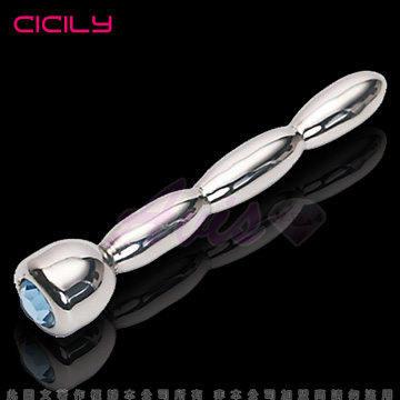虐戀精品CICILY-馬眼三連炮-寶石金屬棒阻尿器