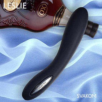 美國SVAKOM Leslie 萊斯利 (獨特加熱鍵)智能模式6段變頻防水按摩棒 經典黑
