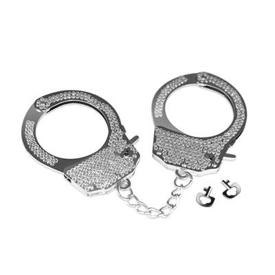 FETISH PLEASURE奢華鑽石金屬手銬(銀)