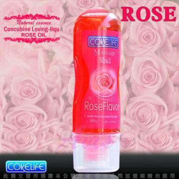 COKELIFE Massage 二合一 全身按摩香薰潤滑液 200ml(玫瑰)