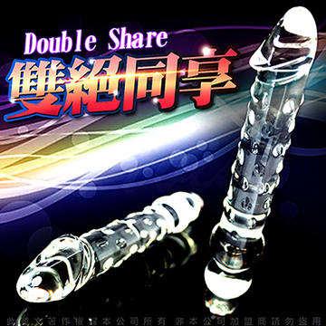 GLASS 雙絕同享 玻璃水晶後庭冰火棒 Anus 53
