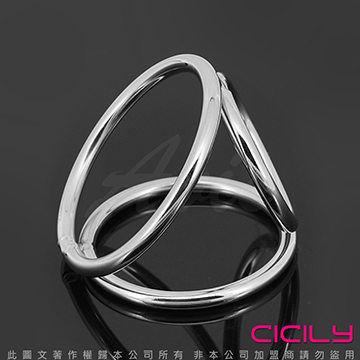 虐戀精品CICILY 硬朗老二 公雞三環 金屬鎖精 陽具環
