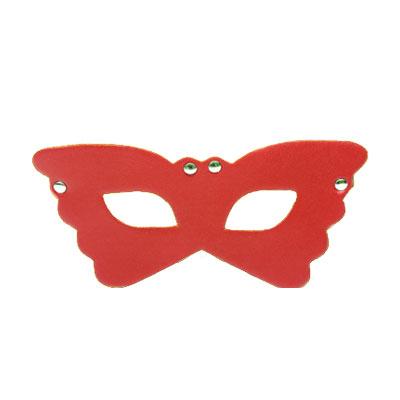 花飛蝶舞 皮革情趣眼罩(紅)