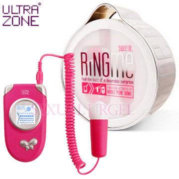 美國Ultrazone-Ring Me 情慾熱線 5段變頻跳蛋-桃紅