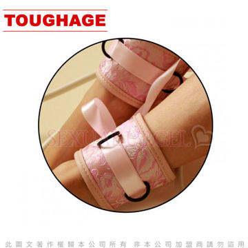 美國駭客Toughage-Chinese silk Ankle Restraints 中國綢 腳腕束帶-粉
