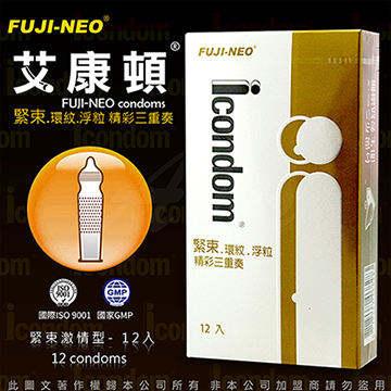 Fuji Neo ICONDOM 艾康頓 精彩三重奏 三效合一型 保險套 12入 金