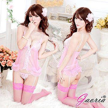 【Gaoria】青澀女孩 蕾絲透明馬甲衣 性感情趣睡衣
