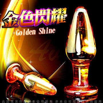 GLASS 金色閃耀 玻璃水晶後庭冰火棒 Anus 51