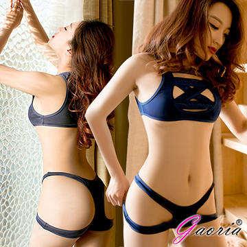 【Gaoria】綑綁系 兩截式 露半球緊縛死庫水 情趣泳衣