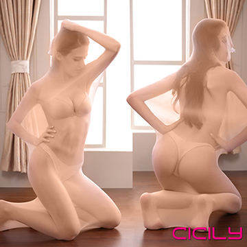 CICILY 性感透明 全包透視單人 捆綁連體衣 緊身連身絲襪  膚色