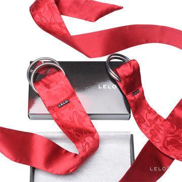 瑞典 LELO 絲綢系列 BOA PLEASURE TIES 絲綢情趣領帶 (紅)