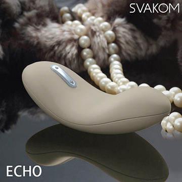 美國SVAKOM Echo 愛蔻 美妙舌頭5段變頻陰蒂震動按摩器 卡其色
