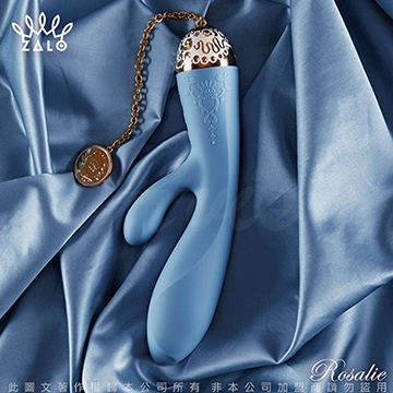 法國ZALO 凡爾賽系列 Rosalie 雙震動G點按摩棒 金屬表面24k金 皇室藍