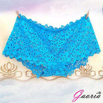 【Gaoria】想入非非 一片式 蕾絲款 冰絲無痕內褲 翠藍