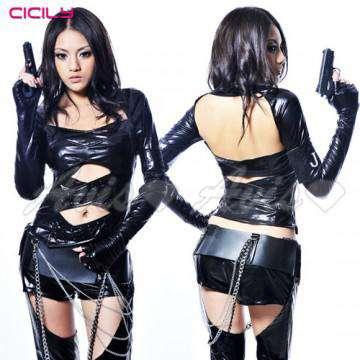 虐戀精品CICILY-特務J女郎-特務裝扮 塗膠仿皮 性感緊身膠衣