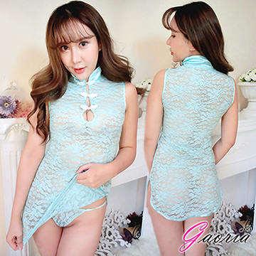 【Gaoria】典雅風華 蕾絲仿旗袍古典中國風 角色扮演 性感情趣睡衣 水藍