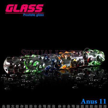 GLASS-繽紛琉璃棒-玻璃水晶後庭冰火棒(Anus 11)