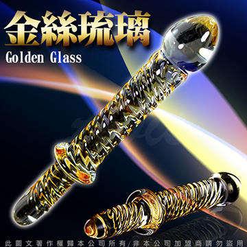 GLASS 金絲琉璃 凹凸螺旋 前後雙用 玻璃水晶後庭冰火棒 Anus 43