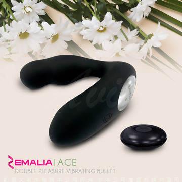ZEMALIA Ace 溫暖加熱 前列腺 無線遙控震動按摩器 黑