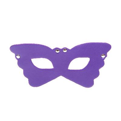 花飛蝶舞 皮革情趣眼罩(紫)