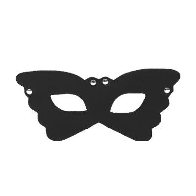 花飛蝶舞 皮革情趣眼罩(黑)