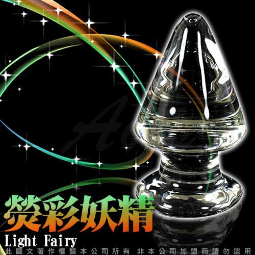 GLASS 重量級  熒彩妖精 肛塞 玻璃水晶後庭冰火棒 Anus 34