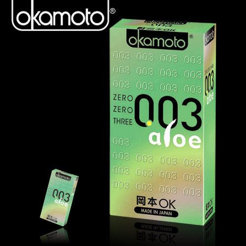 岡本003-ALOE 超潤蘆薈極薄保險套(6入裝)