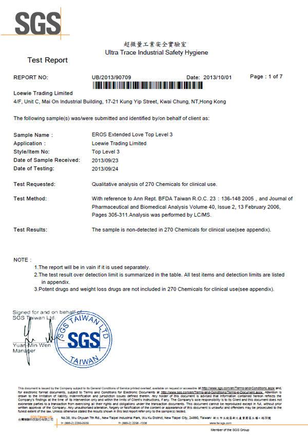 德國EROS EXTENDED LOVE Top Level 3 超強男士活力噴霧 30ml SGS無西藥認證 無療效