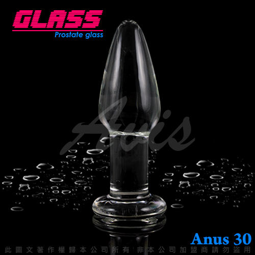 GLASS-透視肛塞-玻璃水晶後庭冰火棒(Anus 30)