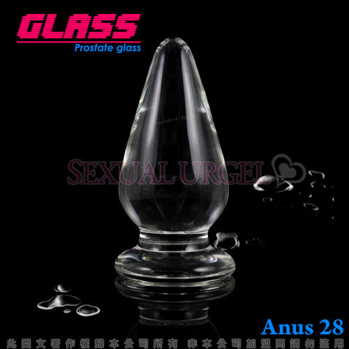 GLASS-中號肛塞-玻璃水晶後庭冰火棒(Anus 28)