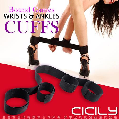 虐戀精品CICILY 手腳一字束縛捆綁帶 BDSM道具